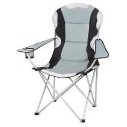 Kempingová židle skládací černo - šedá