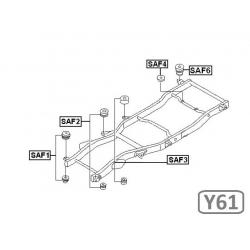 SADA SILENTBLOKŮ KAROSERIE - NISSAN PATROL Y61, GU4 (5DV.)